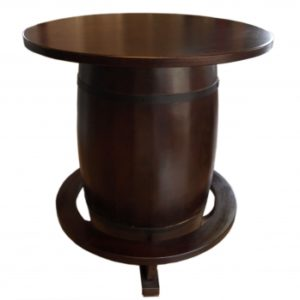 Bartable Wine Barrel walnut
