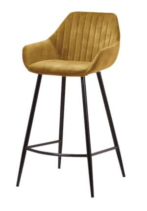 Barstool Detroit Velvet golden brown