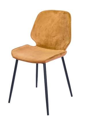 Chair Ocean Velvet yellow ocher