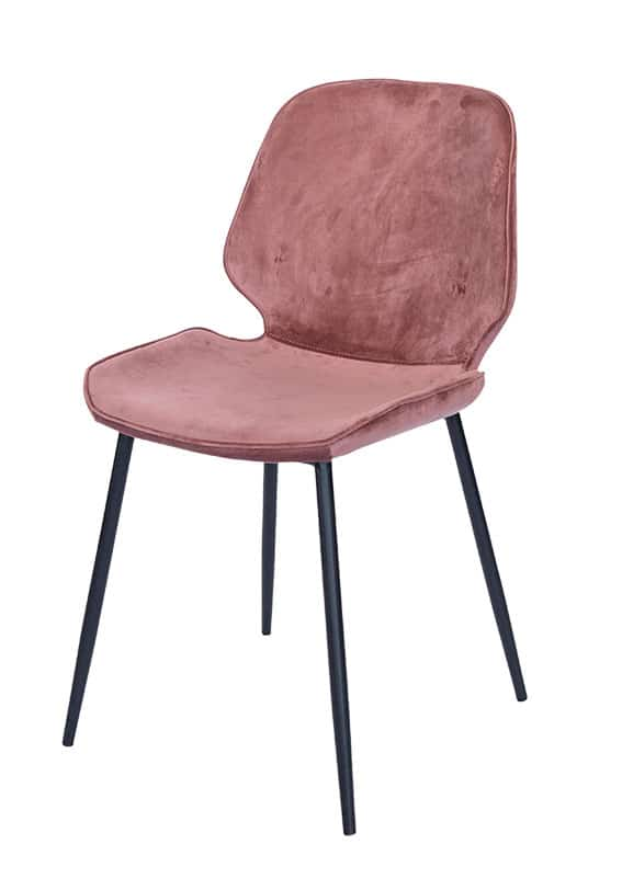 Chair Ocean Velvet pale pink