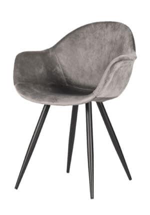 Chair Floris Velvet grey