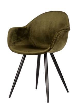 Chair Floris Velvet army green
