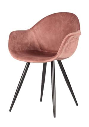 Chair Floris Velvet pale pink