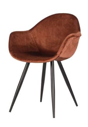 Chair Floris Velvet rust