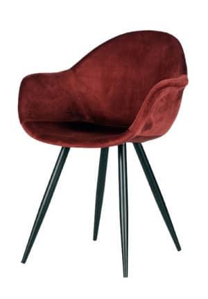 Chair Floris Velvet burgundy