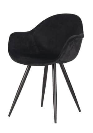 Chair Floris Velvet black
